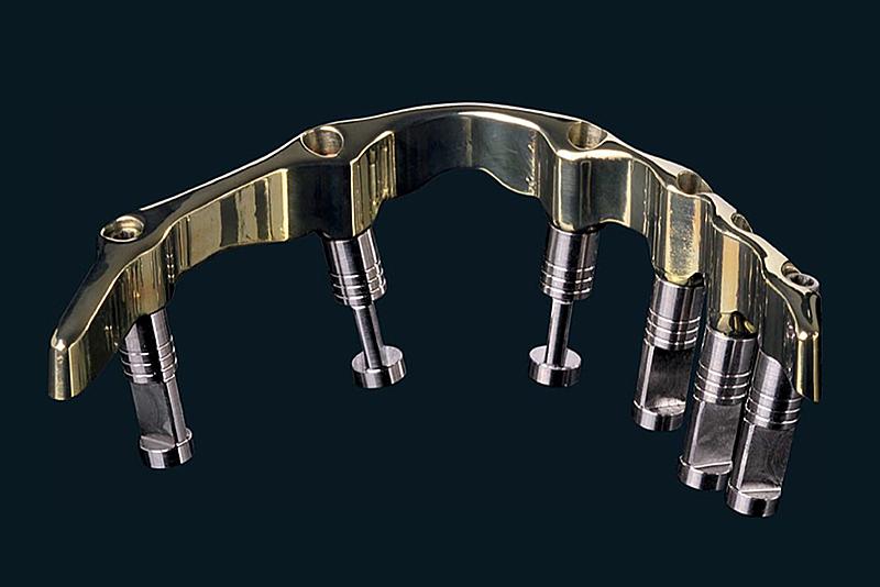 implant denture bar